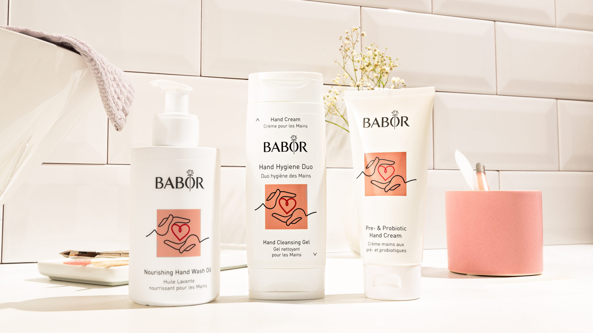 BABOR_NOURISHING_HAND_WASH_OIL_HAND_CLEANSING_GEL_PRE_PROBIOTIC_CREAM_BeautysalonPure
